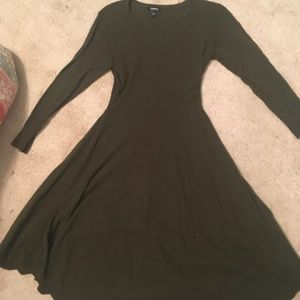 Torrid 00 army/olive green sweater dress